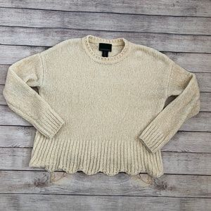 Cynthia Rowley Cream Chenille Sweater Size XS